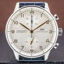 IWC Portuguese Chronograph Steel 40mm Silver United States of America, Massachusetts, Boston