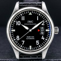 IWC Pilot Mark Otel 41mm Negru Arabic