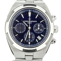Vacheron Constantin Steel Automatic Blue 42mm pre-owned Overseas Chronograph