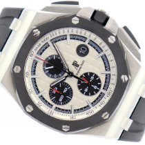 Audemars Piguet Royal Oak Offshore Chronograph Stahl 44mm Weiß Arabisch