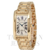 Cartier Tank Américaine Yellow gold 26mm Champagne Roman numerals United States of America, New York, Hartsdale