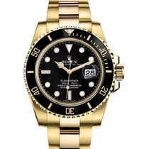 Rolex Submariner Date Oro amarillo 40mm Negro