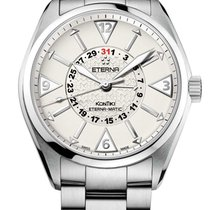 Eterna Steel 42mm Automatic 1592.41.11.0217 Eterma Matic new