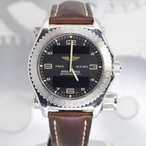 Breitling Emergency White gold 43mm Black Arabic numerals