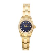 Rolex Yellow gold Automatic Blue No numerals 26mm pre-owned Oyster Perpetual
