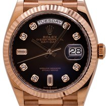 Rolex 128235 Rose gold 2019 Day-Date 36mm pre-owned United States of America, California, West Hollywood