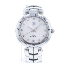 TAG Heuer Link Lady pre-owned 34.5mm Silver Date Steel