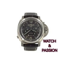 Panerai Luminor 1950 8 Days Chrono Monopulsante GMT Titane 44mm Brun Arabes