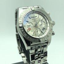 Breitling Chronomat 44 GMT Stahl 44mm Silber Keine Ziffern