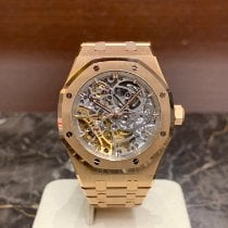 Audemars Piguet Damenuhr Royal Oak Double Balance Wheel Openworked 37mm Automatik neu Uhr mit Original-Box und Original-Papieren 2020
