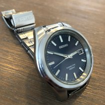 Seiko Kinetic Stal 37mm Fioletowy Bez cyfr