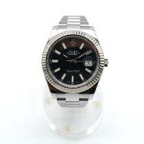 Rolex Datejust II Acero 41mm Negro Sin cifras