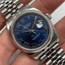 Rolex Datejust Stål 36mm Blå