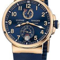 Ulysse Nardin Marine Chronometer Manufacture occasion 43mm Bleu Date Caoutchouc