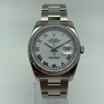 Rolex Datejust Acero 36mm Blanco