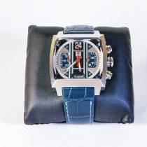 TAG Heuer Monaco Calibre 36 Steel 40,5mm Blue No numerals