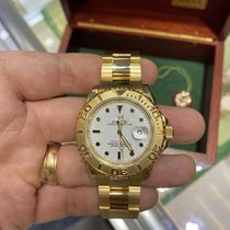 Rolex 16628B White Dial 18KT YELLOW GOLD BOX AND PAPERS Oro amarillo 1997 Yacht-Master 40mm usados
