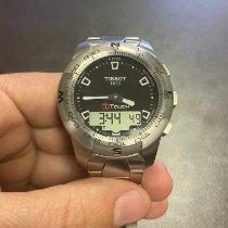Tissot T-Touch II rabljen 43mm Crn Kronograf Datum, nadnevak Budilica Zeljezo