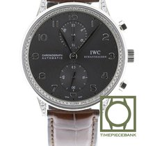 IWC Portuguese Chronograph Or blanc 40.9mm Gris Arabes