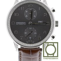 IWC Witgoud Automatisch Grijs Arabisch 40.9mm tweedehands Portuguese Chronograph