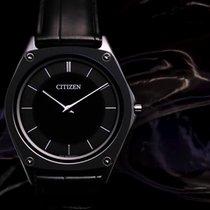 Citizen Eco-Drive One Titane 37mm Noir Sans chiffres