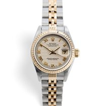 Rolex Lady-Datejust Zlato/Zeljezo 26mm Zlatan Rimski brojevi