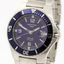 Certina new Quartz 42.5mm Steel Sapphire crystal