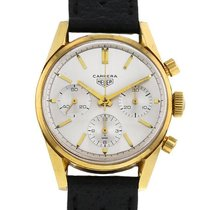 TAG Heuer Or jaune Remontage manuel Argent 36mm occasion Carrera