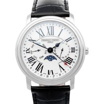 Frederique Constant Classics Business Timer Steel 40mm White