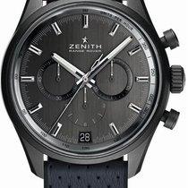 Zenith Aluminium Remontage automatique Gris Sans chiffres 42mm occasion El Primero Chronomaster