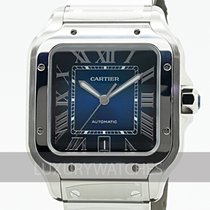 Cartier Santos (submodel) Сталь 39.8mm Синий