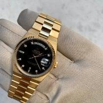 Rolex Day-Date Oysterquartz Gelbgold 36mm Schwarz Keine Ziffern Schweiz, Basel