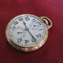Elgin Yellow gold 51mm Manual winding Elgin B W Raymond 16s 21j Pocket Watch, up/dn indicator pre-owned United States of America, Florida, Port Orange