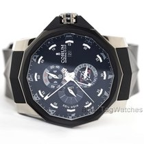 Corum Admiral's Cup Seafender Tides 48 pre-owned 48mm Black Rubber