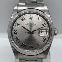 Rolex Datejust tweedehands 36mm Wit Datum Staal