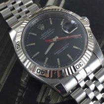 Rolex Datejust Turn-O-Graph Stål 36mm Svart Inga siffror