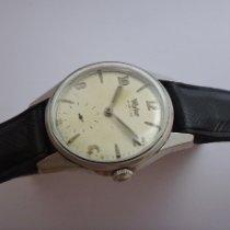 Wyler Stahl Handaufzug Silber Arabisch 32mm gebraucht