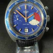 Heuer Steel 42mm Blue No numerals United States of America, New York, Westchester