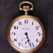 Hamilton Railroad Hamilton 950 14K Railroad Pocket Watch Não usado Ouro amarelo 49mm Corda manual
