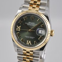 Rolex Datejust Gold/Steel 36mm Green United States of America, Ohio, Mason