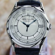 Patek Philippe Calatrava White gold 38mm Silver No numerals United States of America, Connecticut, Darien
