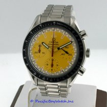 Omega Speedmaster pre-owned 39mm Yellow Chronograph Tachymeter Steel