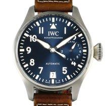 IWC Big Pilot Aço 46mm Azul Árabes