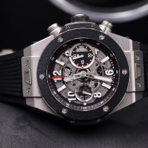 Hublot Big Bang Unico 411.NM.1170.RX Sehr gut Titan 45mm Automatik