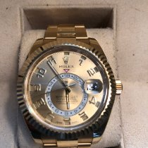 Rolex Yellow gold Automatic Gold Arabic numerals 42mm pre-owned Sky-Dweller
