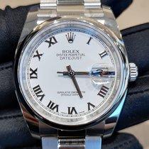 Rolex Steel 41mm White Roman numerals