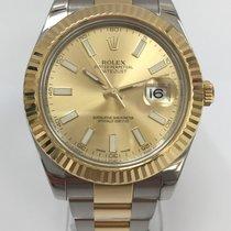 Rolex Datejust II Gold/Steel 41mm Champagne No numerals