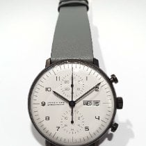 Junghans max bill Chronoscope Steel 40mm White Arabic numerals