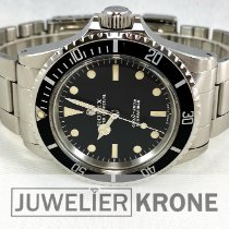 Rolex Submariner (No Date) Stal 40mm Czarny Bez cyfr