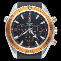 Omega Seamaster Planet Ocean Chronograph Acier 45mm Noir Arabes
